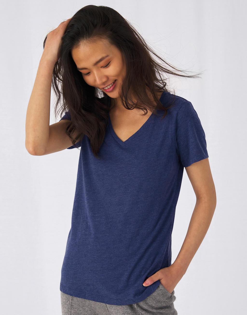 Damski t-shirt V-neck V Triblend/women