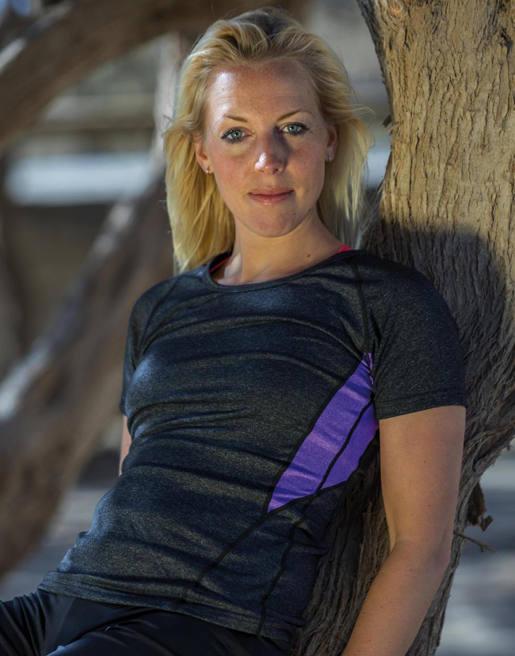 Damska koszulka Fitness Tech Panel Marl T