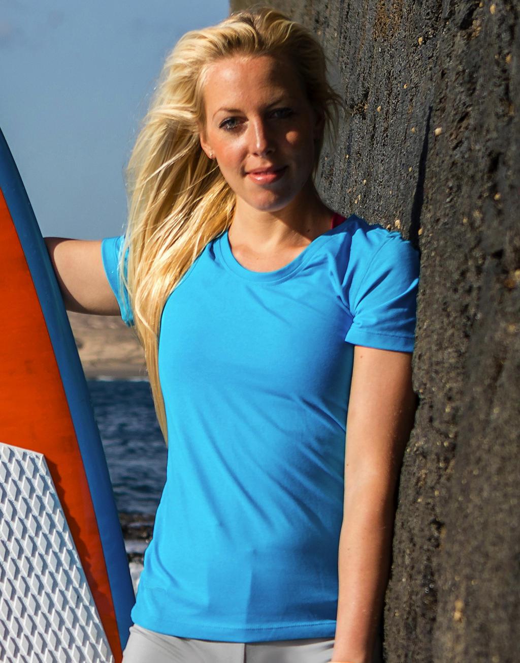 Damska koszulka Fitness Shiny Marl T-Shirt
