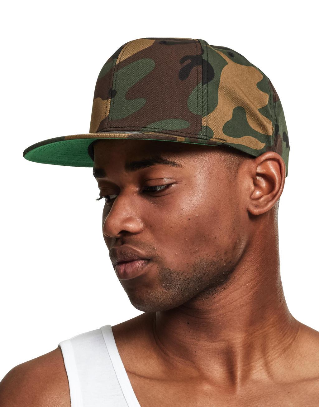 Klasyczna czapka z płaskim daszkiem Camo