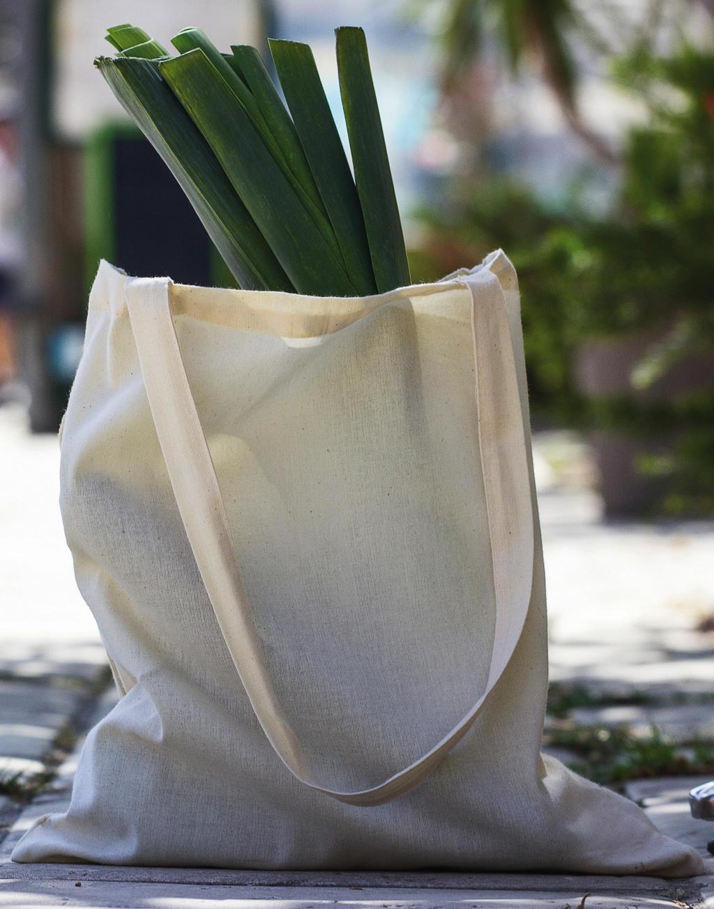 Torba Popular z bawełny organicznej długie uchwyty