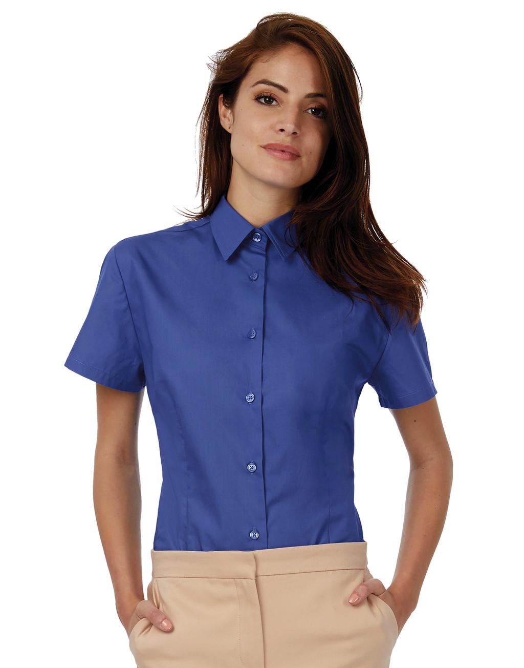 Bluzka popelinowa Heritage z krótkimi rękawami